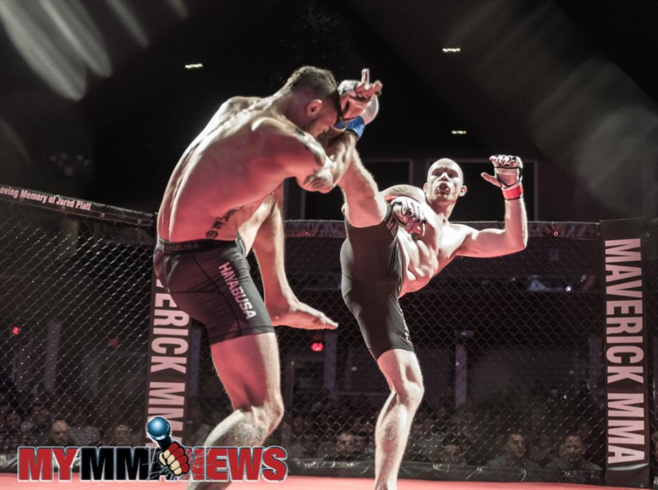 Joey Angelo vs Kris Gratalo at Maverick MMA 3 - Photo by William McKee