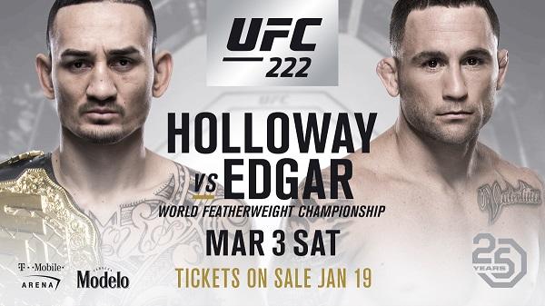 Max Holloway vs Frankie Edgar rebooked for UFC 222 in Las Vegas