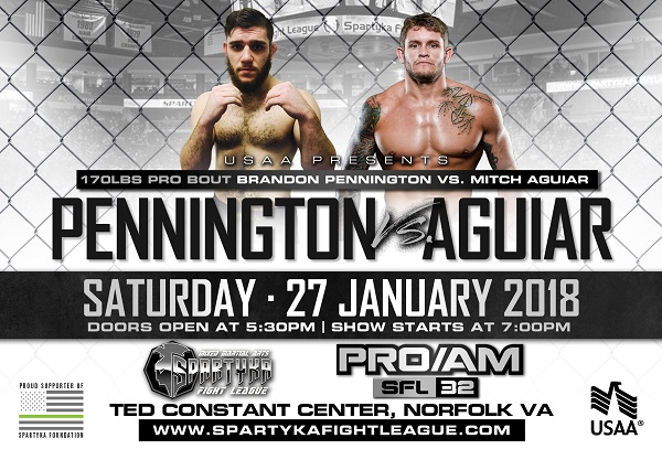 WATCH: Spartyka Fight League - SFL 32 Pennington vs Aguiar