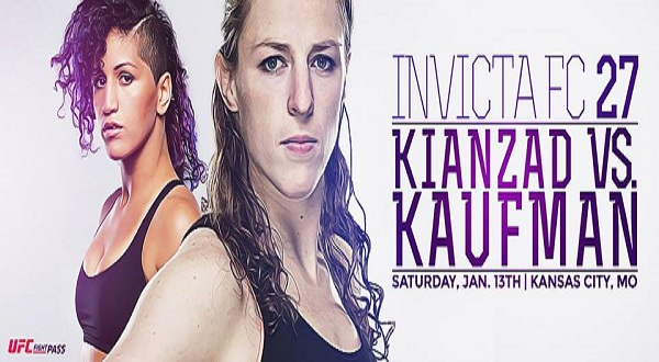 Invicta FC 27 results – Sarah Kaufman vs. Pannie Kianzad