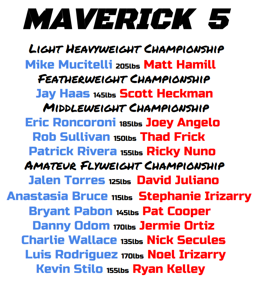 Maverick MMA 5 fight card