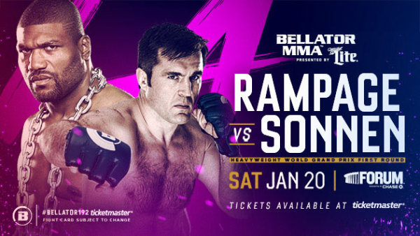 Bellator 192 Results - Rampage vs Sonnen, Lima vs. MacDonald