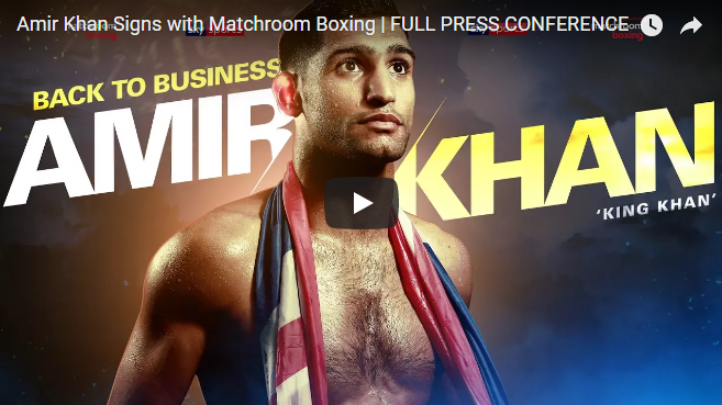 Amir Khan Signs with Matchroom Boxing | FULL PRESS CONFERENCE