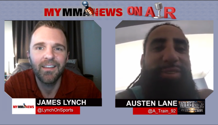 Former NFL Player Austen Lane Talks Warfare MMA 18 Matchup, Gives Super Bowl LII Prediction
