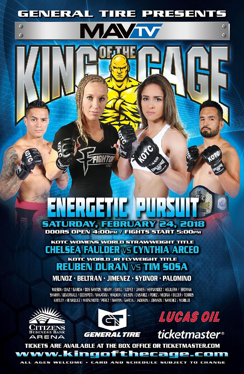 King of the Cage's Energetic Pursuit headlined by Cynthia Arceo vs. Chelsea Faulder