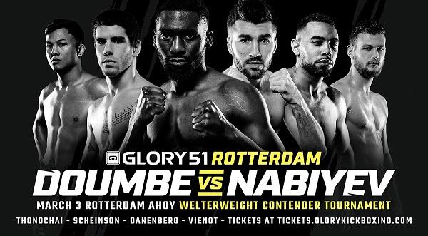 Cédric Doumbé vs. Alim Nabiyev at GLORY 51 SuperFight Series Determines No. 1 Welterweight Contender