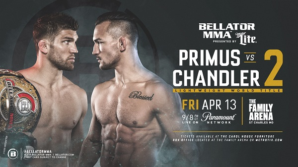 Brent Primus defends title against former champ Michael Chandler in rematch at Bellator 196