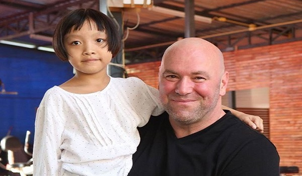 Dana White visits little girl whose life he saved