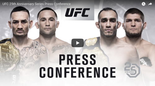 WATCH:  UFC 25th anniversary press conference today at 5 p.m. EST