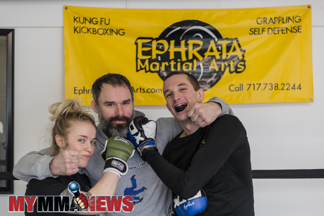 Lateesha Mohl, Justin Press, and Ben Moser, Ephrata Martial Arts