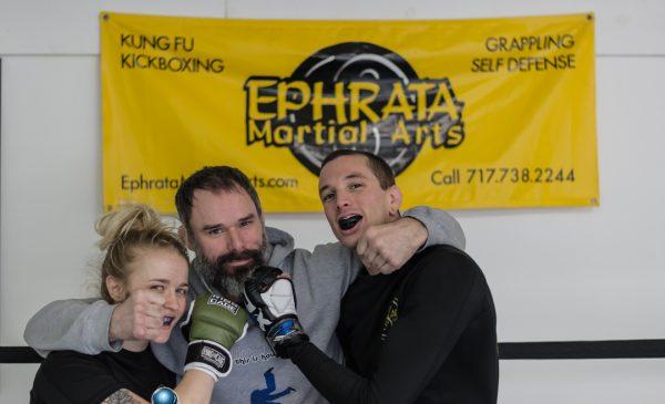 Lateesha Mohl, Justin Press, and Ben Moser, Ephrata Martial Arts
