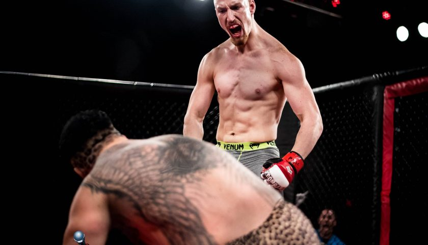 Middleweight blue-chipper, Joe 'Bodybagz' Pyfer, looking for another finish at AOW 5