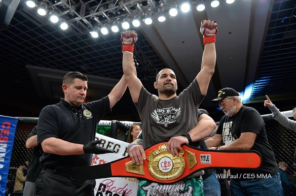 Greg Rebello makes quick work of Travis Wiuff to win CES MMA title