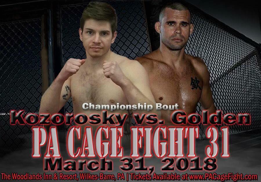 Jake Kozorosky vs Wesley Gordon, PA Cage Fight 31