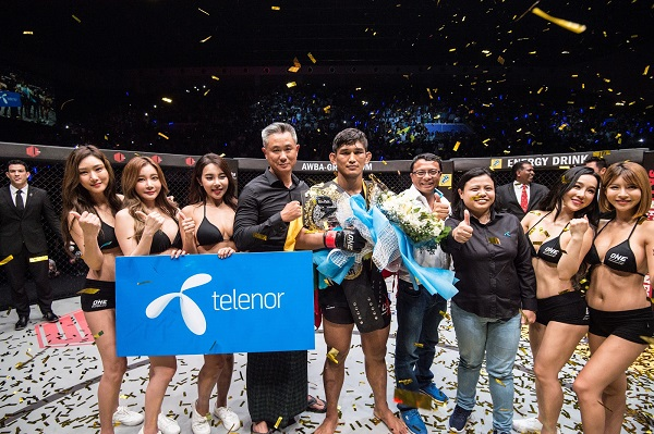 Aung La N Sang captures vacant ONE light heavyweight title with KO of Alexandre Machado