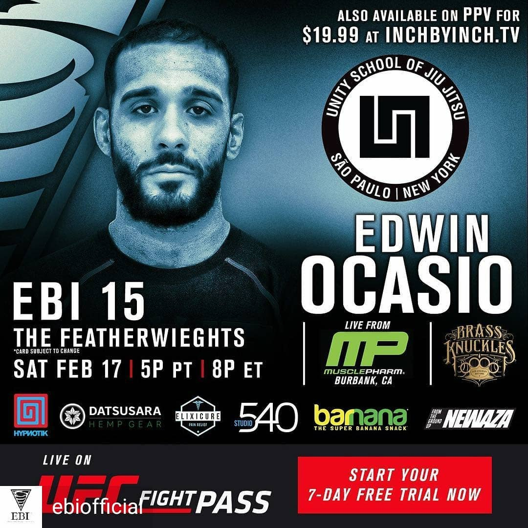 Edwin Ocasio, EBI 15, Eddie Bravo Invitational