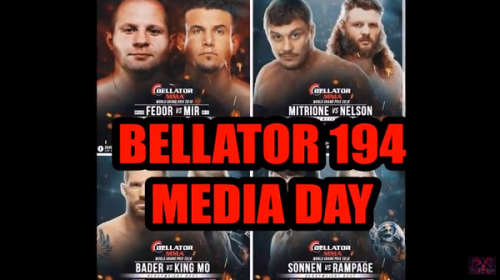 Bellator 194 Media Day interviews with Big Country and PitBull