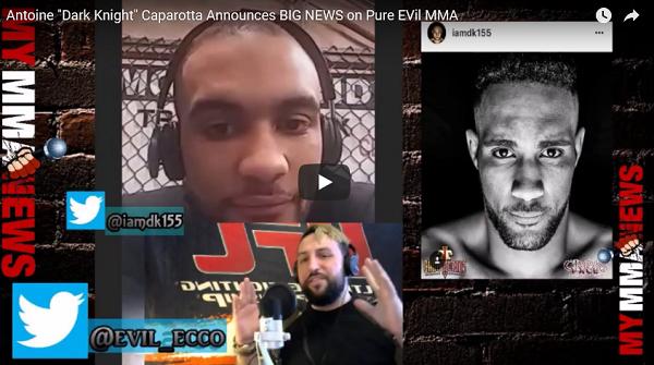 """Dark Knight"" Antoine Caparotta announces ""BIG NEWS"" on Pure EVil MMA"