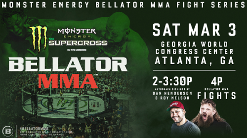 Monster Energy Bellator MMA Fight Series Opens 2018 at Monster Energy Supercross in ATL