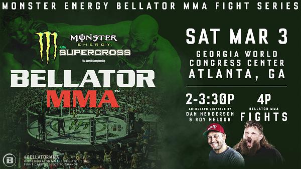 Monster Energy Bellator MMA Fight Series Opens 2018 at Monster Energy Supercross in ATL
