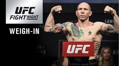 UFC on FOX 28 weigh-in results – Emmett vs. Stephens – Ceremonial VIDEO