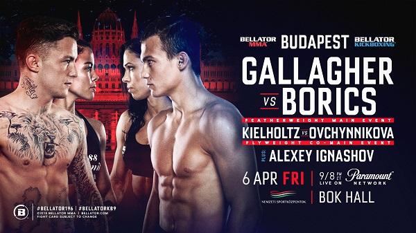 James Gallagher-Adam Borics Headlines Bellator 196 in Budapest, Hungary on April 6