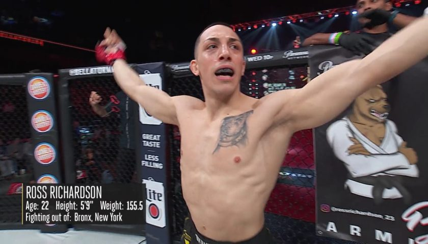 Full Fight Video: Ross Richardson Earns TKO in Bellator MMA Debut Vs Frog-Man