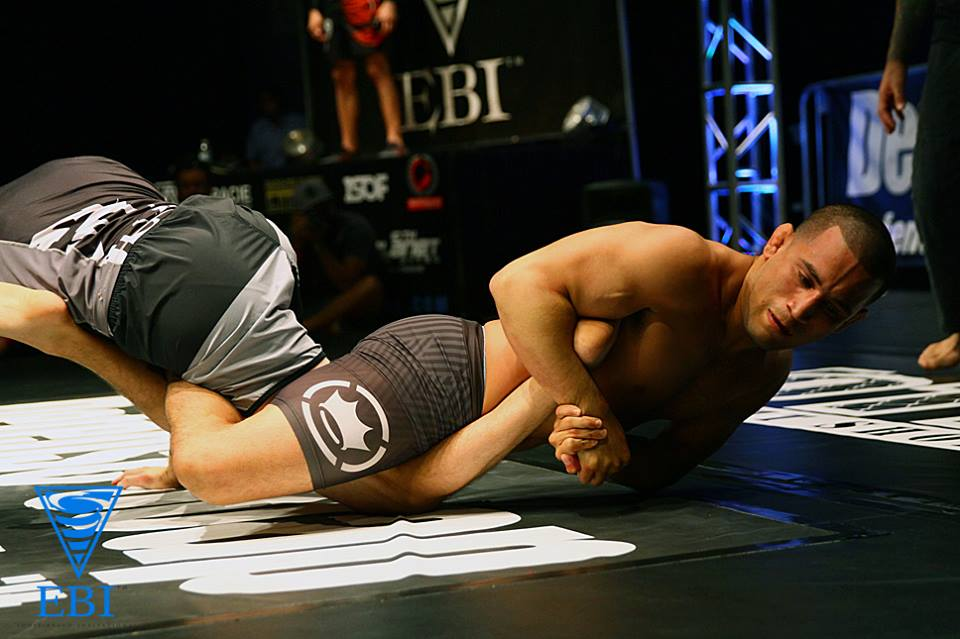 Joe Soto securing a heel hook submission at EBI 4