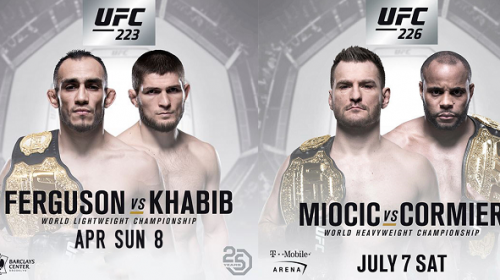 Two UFC events to look out for in the coming months