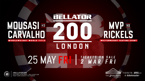 London to Host Historic Bellator 200 on May 25