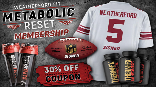 Weatherford Fit prize giveaway - Enter here, Win NFL gear, supplements, more