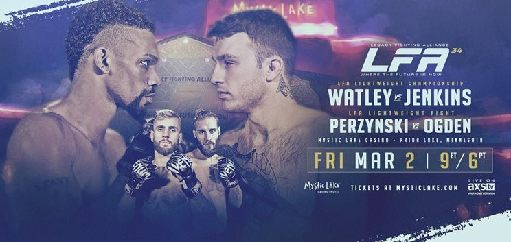 LFA 34 Results from Mystic Lake Casino in Prior Lake, Minnesota