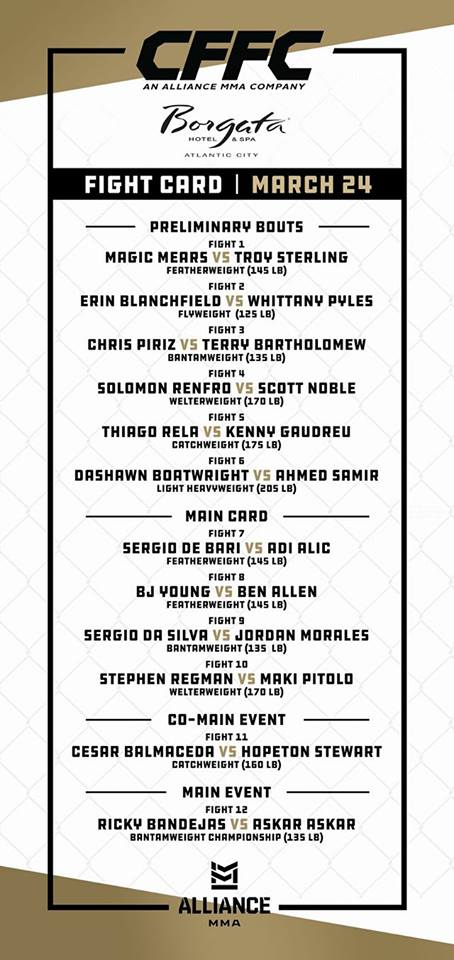 CFFC 70 fight card
