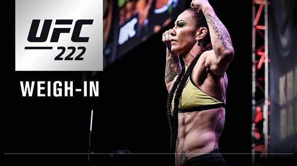 UFC 222 Weigh-in Results - Cyborg vs Kunitskaya