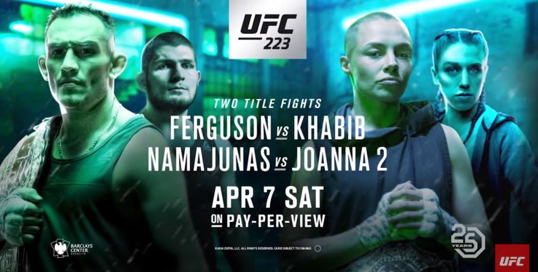 UFC 223 fight week schedule announced