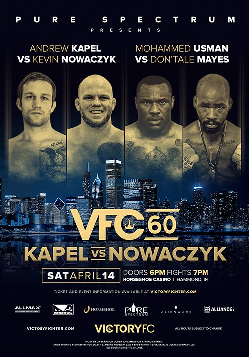 VFC 60 main and co-main events announced for Hammond, Indiana