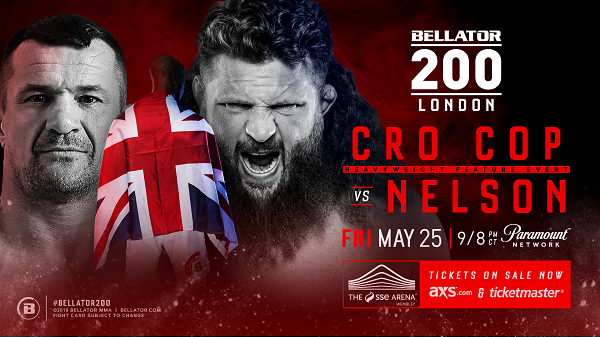 Mirko Cro Cop vs Roy Nelson Added to Bellator 200 in London on May 25