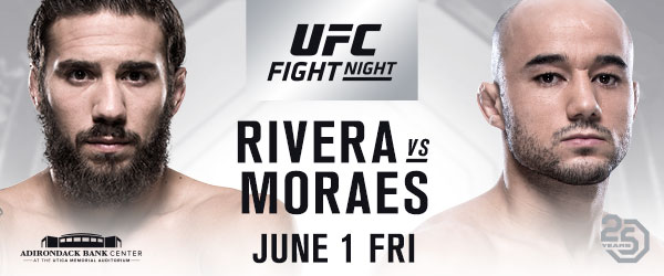 UFC Debuts In Utica With Bantamweight Thriller Between Rivera and Moraes