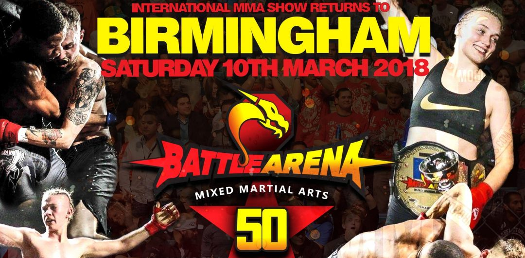 Watch the FREE replay of Battle Arena 50 from Birmingham, England
