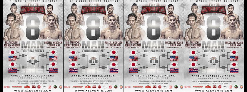 X-1 World Events 49 – MMA from Hawaii – Live Stream – 8 Man Tournament