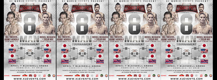 X-1 World Events 49 - MMA from Hawaii - Live Stream - 8 Man Tournament