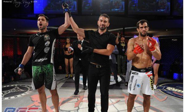 AFC 22, Theo Christakos defeated Anton Zafir