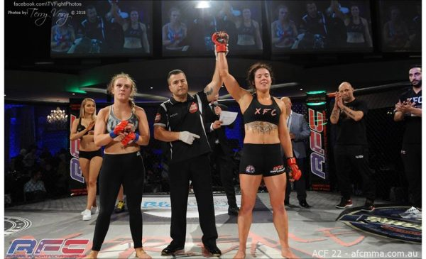 AFC 22, Anthea Paton defeated Caitlin McEwen by Unanimous Decision