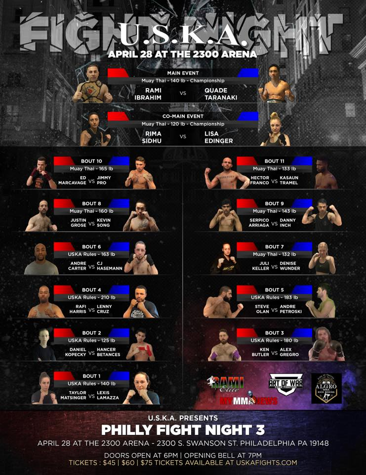 uska fights, USKA Fight Night Philly 3