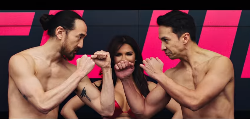 Steve Aoki & Laidback Luke – It's Time (ft. Bruce Buffer) Music Video