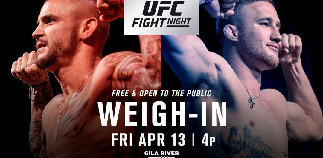 UFC on FOX 29 weigh-in results – Gaethje vs. Poirier