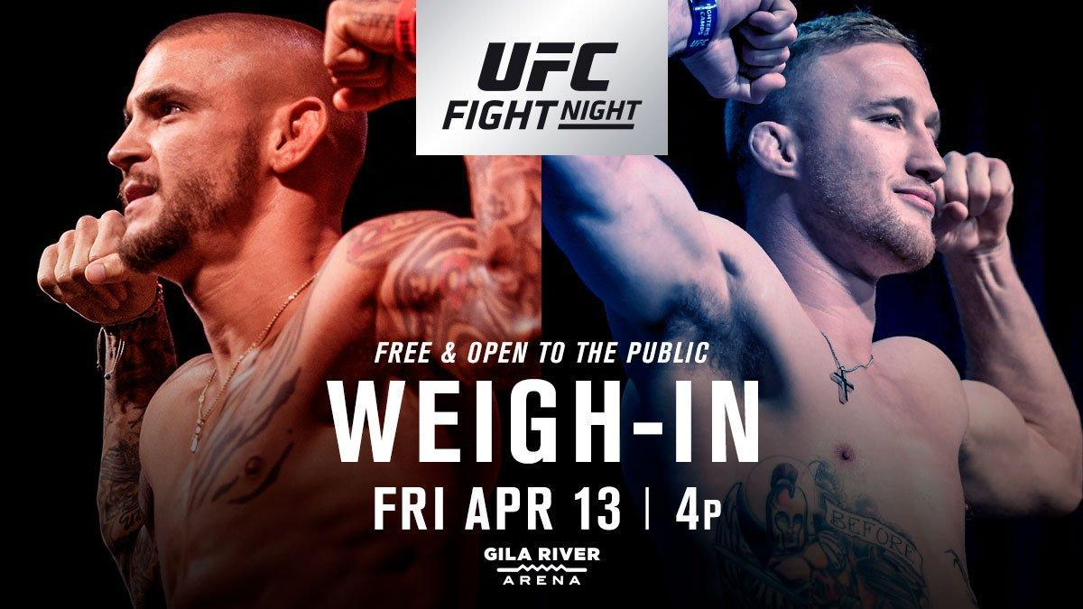 UFC on FOX 29 weigh-in results