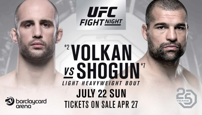 Volkan Oezdemir vs Shogun Rua rebooked, headlines UFC Hamburg