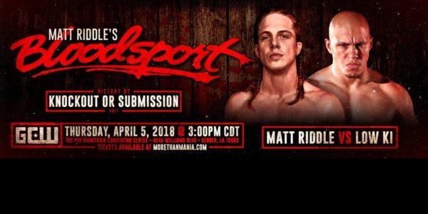 bloodsport, GCW Matt Riddle's Bloodsport - Official PPV Live Stream