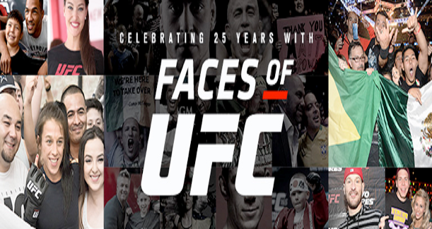UFC launches Faces of UFC campaign to celebrate 25 years of fans